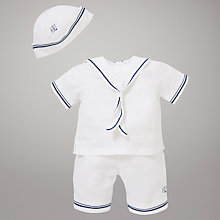 Buy Emile et Rose Carlton Sailor Top & Shorts Set with Plush Toy, White Online at johnlewis.com