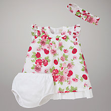 Buy Emile et Rose Cala Dress, Knickers & Headband with Plush Toy, Pink/White Online at johnlewis.com