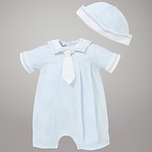 Buy Emile et Rose Colby Sailor Romper & Hat with Plush Toy, Blue Online at johnlewis.com