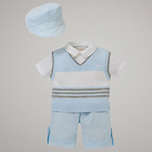 Buy Emile et Rose Cole 3-Piece Set & Hat with Plush Toy, Blue Online at johnlewis.com