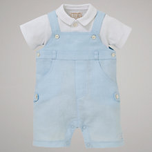 Buy Emile et Rose Costa Bib Short & Bodysuit with Plush Toy, Blue Online at johnlewis.com