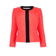 Buy Ted Baker Kerisa Cropped Neon Jacket, Red Online at johnlewis.com