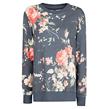Buy Mango Floral Sweatshirt, Bright Orange Online at johnlewis.com