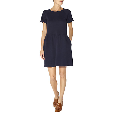 Buy NW3 by Hobbs Quilted Dress, French Navy Online at johnlewis.com