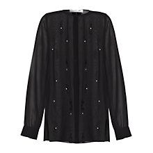 Buy Damsel in a dress Fleur Blouse, Black Online at johnlewis.com