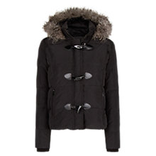 Buy Mango Toggle Detail Down Jacket, Black Online at johnlewis.com