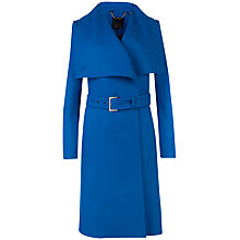 Buy Ted Baker Madigan Draped Front Coat, Blue Online at johnlewis.com