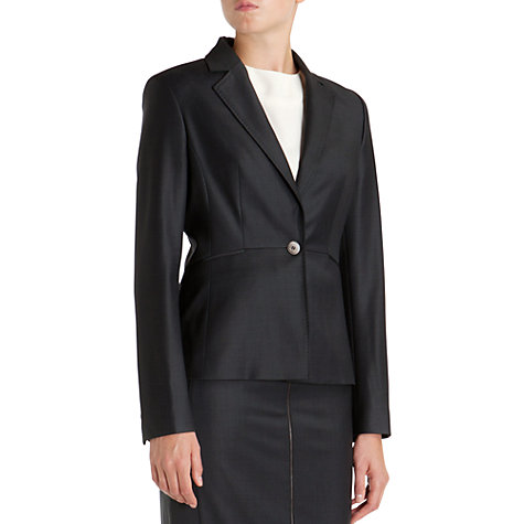 Buy Ted Baker Edi Mohair Suit Jacket, Charcoal Online at johnlewis.com