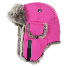 Buy Polarn O. Pyret Faux Fur Trimmed Trapper Hat, Sangria Online at johnlewis.com