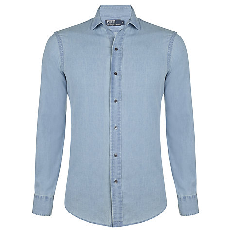Buy Polo Ralph Lauren Chambray Cotton Shirt, Palm Wash Online at johnlewis.com