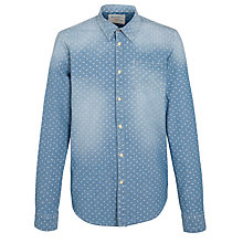 Buy Scotch & Soda Dart Print Chambray Shirt, Light Blue Online at johnlewis.com