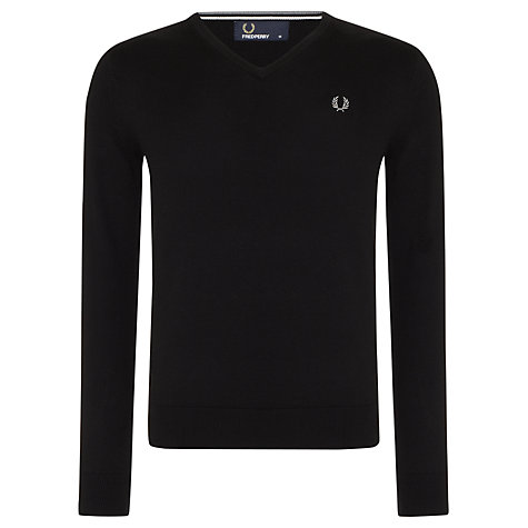 Buy Fred Perry Merino Blend Jumper V-Neck Jumper Online at johnlewis.com