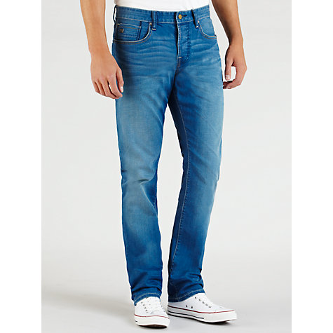 Buy Scotch & Soda Ralston Slim Fit Jeans, Mid Blue Online at johnlewis.com