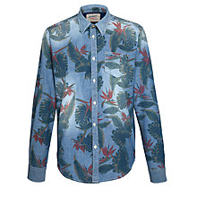 Buy Scotch & Soda Chambray Floral Print Shirt, Blue/Multi Online at johnlewis.com
