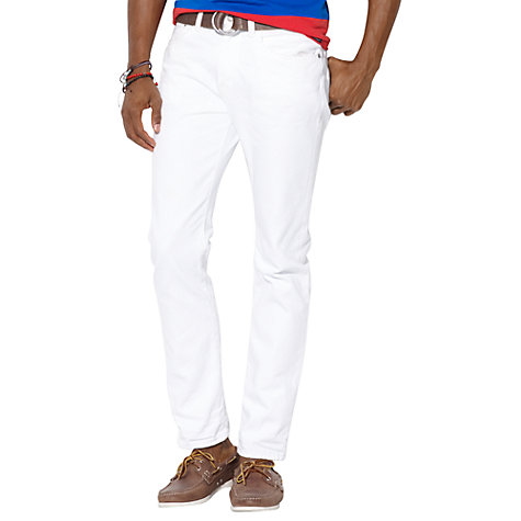 Buy Polo Ralph Lauren Varick Slim Fit Jeans, White Online at johnlewis.com