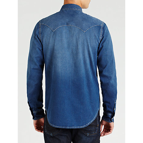 Buy Scotch & Soda Denim Western Shirt, Chambray Online at johnlewis.com