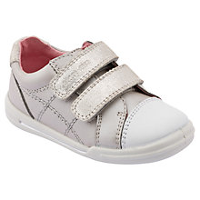 Buy Start-rite Flexi Soft Milan Trainers, Silver Online at johnlewis.com