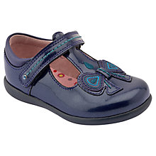 Buy Start-rite Girls' Scilla Patent T-Bar Shoes, Blue Online at johnlewis.com