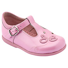 Buy Start Rite Girls' First Pixie Patent T-Bar Shoes, Rose Pink Online at johnlewis.com