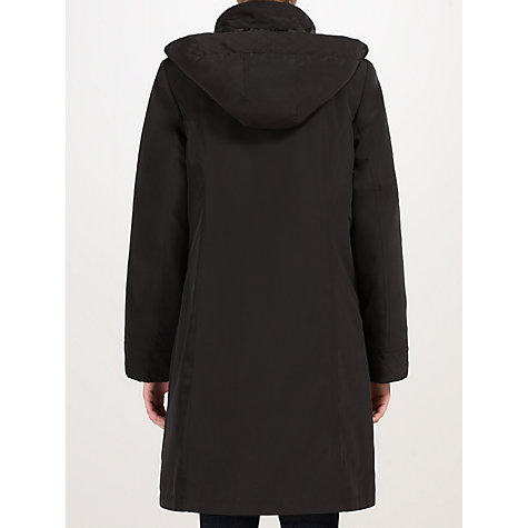Buy John Lewis Quilted Zip Out Mac, Black Online at johnlewis.com