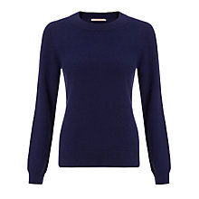 Buy John Lewis Summer Cashmere Crew Neck Jumper, Navy Online at johnlewis.com