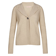 Buy John Lewis Reverse Collar Cardigan, Natural Online at johnlewis.com