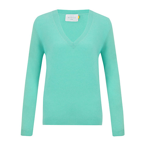 Buy Collection WEEKEND by John Lewis Slouchy Deep-V Cashmere Jumper Online at johnlewis.com