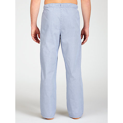 Buy John Lewis Woven Striped Lounge Pants, Navy Online at johnlewis.com