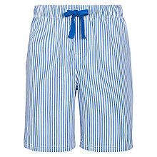 Buy John Lewis Woven Stripe Lounge Shorts, Blue Online at johnlewis.com