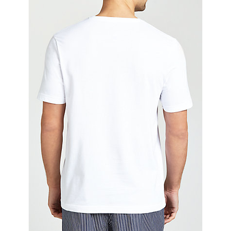 Buy John Lewis Short Sleeve V-Neck T-Shirt, White Online at johnlewis.com