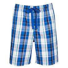 Buy John Lewis Woven Check Shorts, Blue/White Online at johnlewis.com