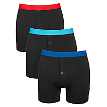 Buy John Lewis Cotton Stretch Trunks, Pack Of 3 Online at johnlewis.com