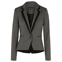 Buy Warehouse Tipped Jacket, Grey Online at johnlewis.com