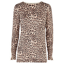 Buy Warehouse Animal Print Jumper, Camel Online at johnlewis.com
