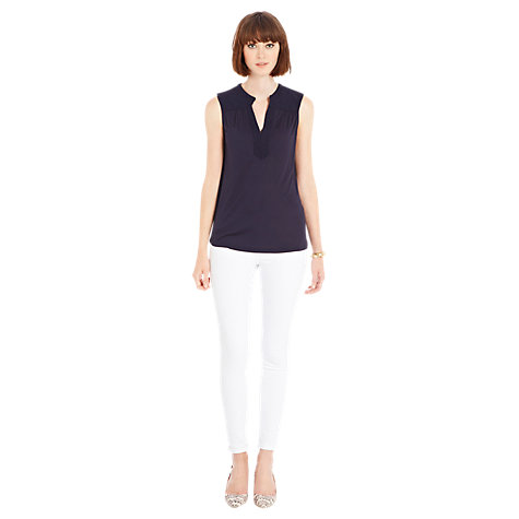Buy Warehouse Jacquard Yoke Top Online at johnlewis.com