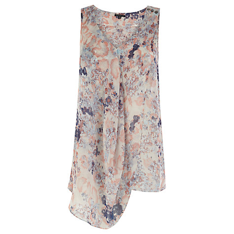 Buy Warehouse Fluro Floral Vest, Multi Online at johnlewis.com