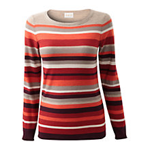 Buy East Stripe Women's Terra Stripe Jumper, Multi Online at johnlewis.com