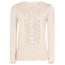 Buy Reiss James Pointelle Front Cardigan, Neutral Online at johnlewis.com
