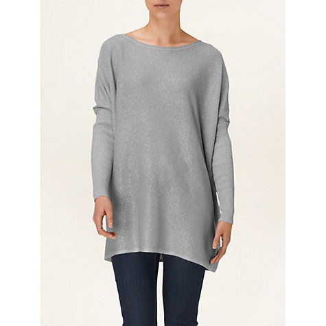 Buy Phase Eight Laila Boxy Metallic Jumper, Silver Online at johnlewis.com