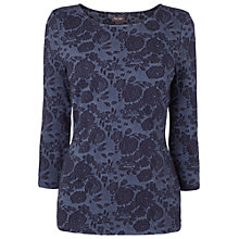 Buy Phase Eight Flower Jacquard Top, Indigo Online at johnlewis.com