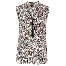 Buy Warehouse Floral Print Blouse, Leopard Online at johnlewis.com
