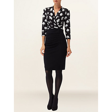Buy Phase Eight Tree Print Wrap Top, Black / Grey Online at johnlewis.com