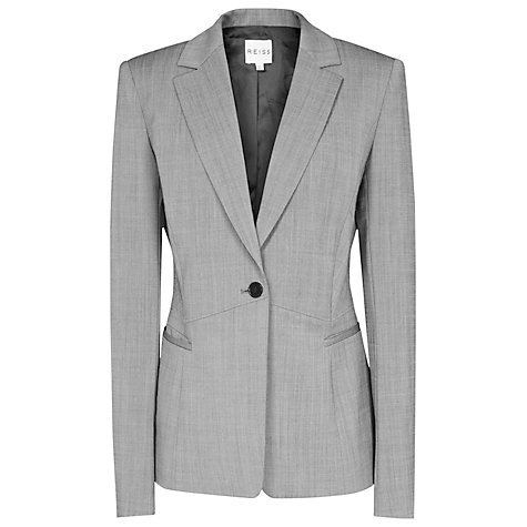 Buy Reiss Floren Row Fitted Jacket, Mid Grey Online at johnlewis.com