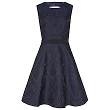 Buy Reiss Natalie Blu Fit and Flare Dress, Blue/Black Online at johnlewis.com