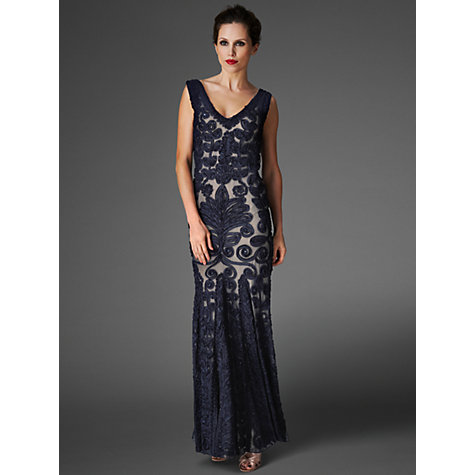 Buy Phase Eight Collection 8 Paloma Tapework Dress, Navy Online at johnlewis.com
