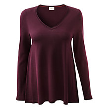 Buy East Merino Swing Women's Sweater, Merlot Online at johnlewis.com