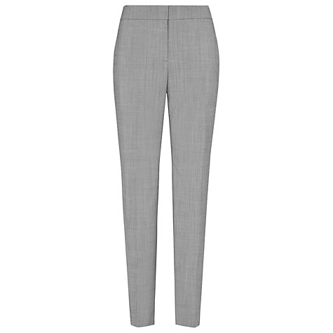 Buy Reiss Claris Row Straight Leg Tailored Trousers, Mid Grey Online at johnlewis.com