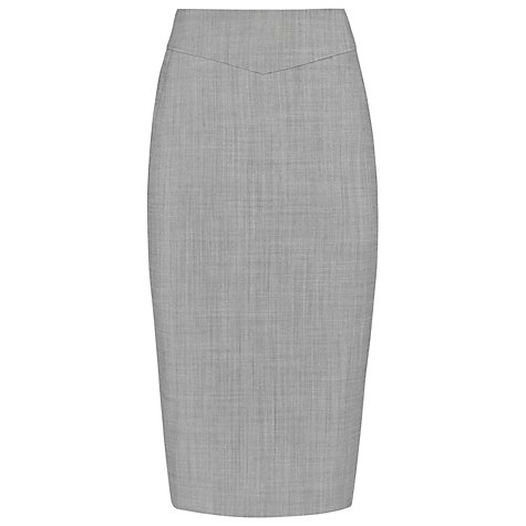 Buy Reiss Coral Row Pencil Skirt, Mid Grey Online at johnlewis.com