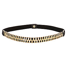 Buy Warehouse Mini Bars Belt, Black Online at johnlewis.com