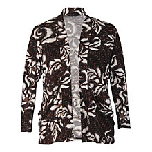 Buy Chesca Floral Shrug Cardigan, Chestnut Online at johnlewis.com